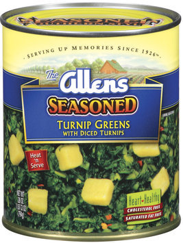 The Allens Seasoned W/Diced Turnips Turnip Greens 28 Oz Can