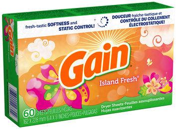 Gain with FreshLock Island Fresh Dryer Sheets 60 ct Carton