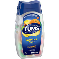 Tums® Ultra Strength 1000 Tropical Fruit Antacid Chewable Tablets 72 ct Bottle
