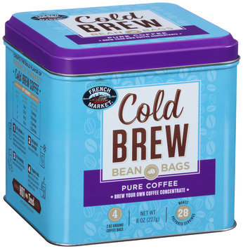 French Market® Cold Brew Pure Coffee Bean Bags 4-2 oz. Bags