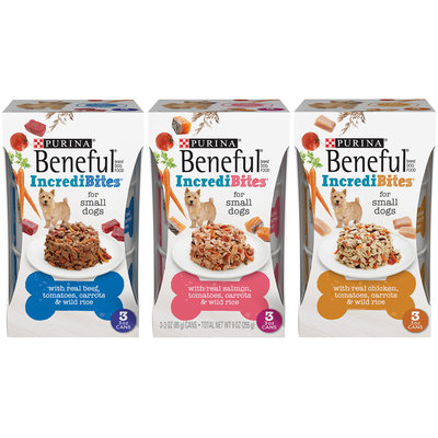 Purina Beneful IncrediBites for Small Dogs Wet Dog Food Family Group Shot