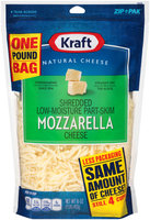 Kraft Shredded Low-Moisture Part-Skim Cheese 16 oz. ZIP-PAK®