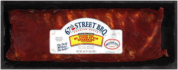 67th Street BBQ™ St. Louis Style Spareribs Seasoned Pork with Sauce 48 oz. Package