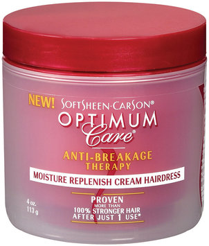 Optimum Care Moisture Replenish Cream Hairdress Anti-Breakage Therapy 4 Oz
