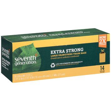 Seventh Generation™ Black 30 gal. Extra Strong Large Drawstring Trash Bags 14 ct Box