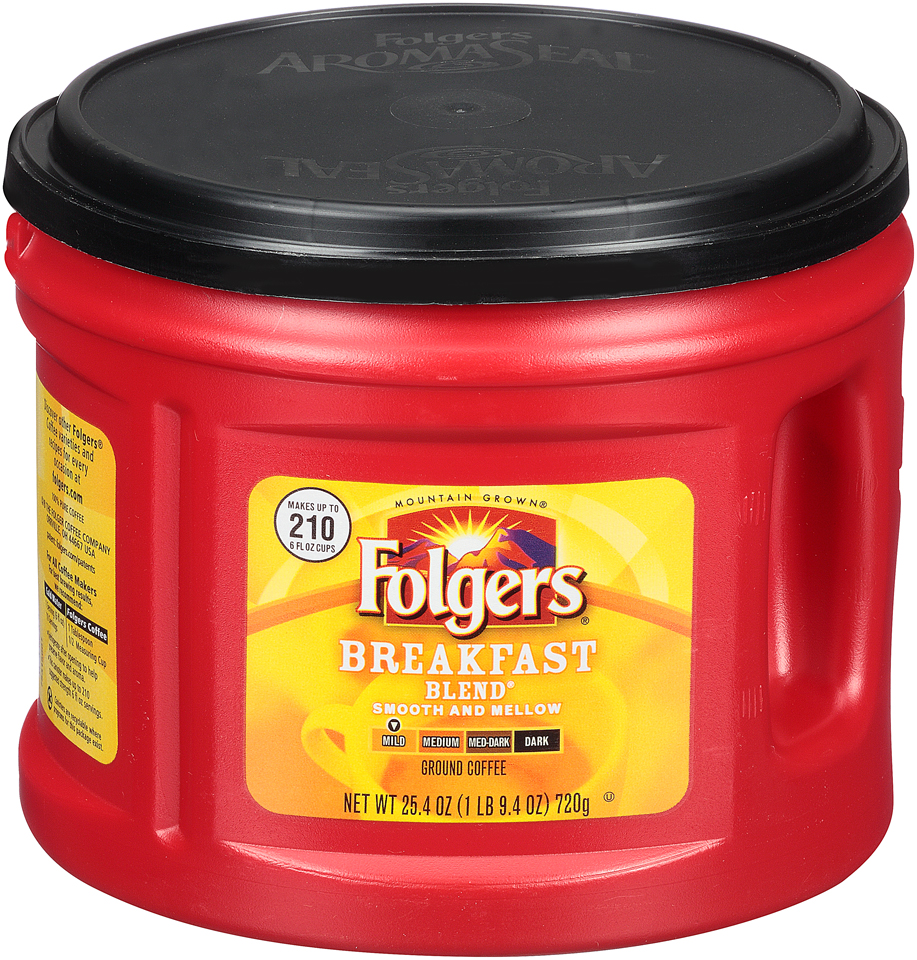 Folgers® Breakfast Blend® Mild Ground Coffee 25.4 oz. Canister