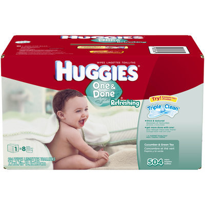 Huggies® One & Done Refreshing Cucumber Green Tea Baby Wipes Refill 504 ct Box