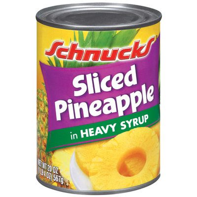 Schnucks In Heavy Syrup Sliced Pineapple 20 Oz Can