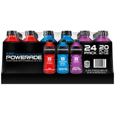 Powerade Sports Drink Variety Pack 24-20 fl. oz. Plastic Bottles