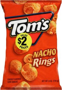 Tom's® Nacho Rings Cheese Flavored Corn Snacks 6 oz. Bag