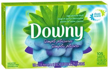 Downy® Simple Pleasures Sage Jasmine Thrill Fabric Softener Sheets 105 ct Box