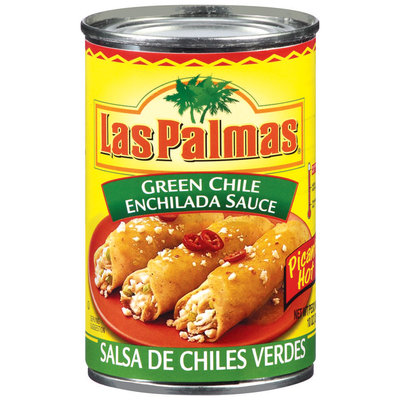 Las Palmas Green Chile Hot Enchilada Sauce 10 Oz Can