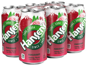 Hansen's® Natural Cane Pomegranate Soda 6-12 fl. oz. Cans