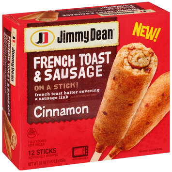 Jimmy Dean® Cinnamon French Toast & Sausage on a Stick! 30 oz. Box