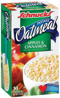 Schnucks Instant Apples & Cinnamon Oatmeal 10 Ct Box