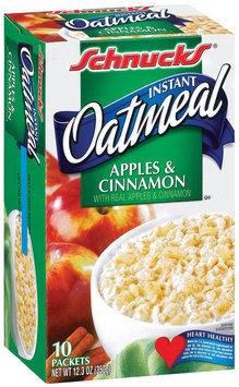 Schnucks Instant Apples & Cinnamon Oatmeal 10 Ct Box
