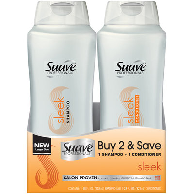 Suave® Professionals Sleek Shampoo & Conditioner 2-28 fl. oz. Squeeze Bottles