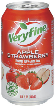 Veryfine Apple Strawberry 100% Juice Blend 11.5 Oz Pull-Top Can