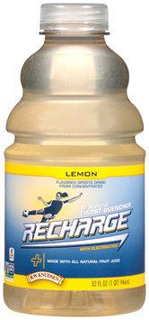 R.W. Knudsen® Recharge® Lemon Flavored Sports Drink 32 fl. oz. Bottle