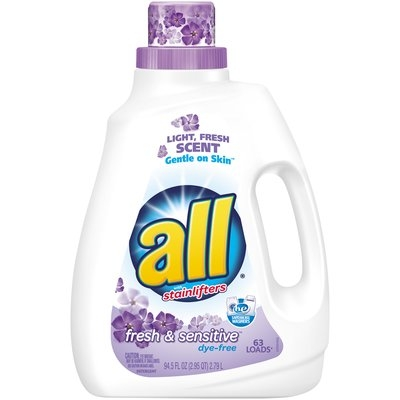 all® fresh & sensitive Laundry Detergent 63 Loads 94.5 fl. oz. Bottle