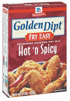 Golden Dipt Hot 'n Spicy Seasoned Chicken Fry Mix Fry Easy 8 Oz Box
