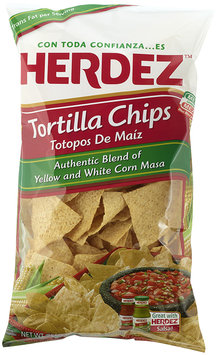 Herdez® Authentic Yellow and White Corn Masa Tortilla Chips 11 oz. Bag