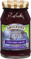 Smucker's® Simply Fruit® Concord Grape Spreadable Fruit 10 oz. Jar