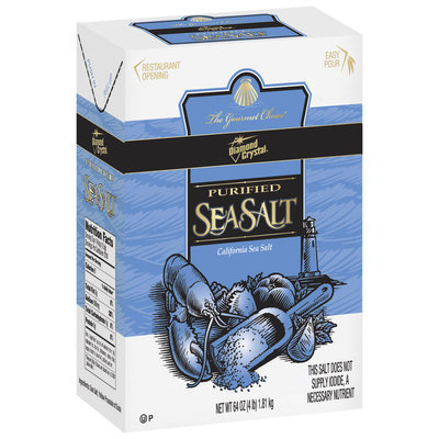 Diamond Crystal Purified Sea Salt 4 Lb Box