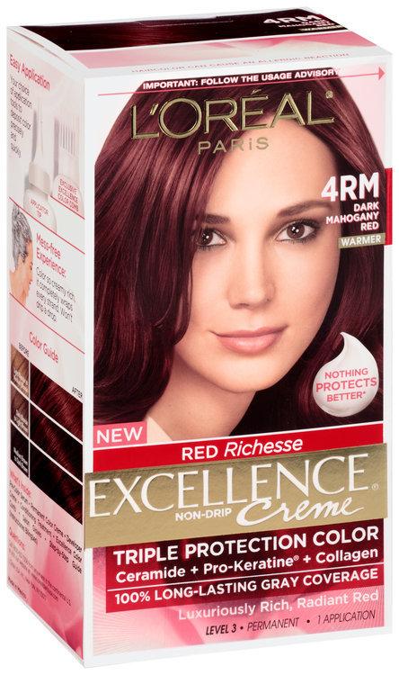 L Or 233 Al 174 Paris Excellence 174 Creme Red Richesse 4rm Dark