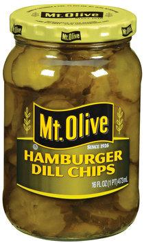 Mt. Olive Hamburger Dill Chips Pickles 16 Oz Jar