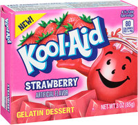 Kool Aid Strawberry Gelatin Dessert Box