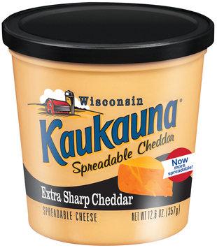 Kaukauna Extra Sharp Cheddar Spreadable Cheese 12.6 Oz Tub