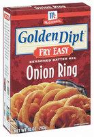 McCormick® Golden Dipt® Fry Easy Onion Ring Seasoned Batter Mix