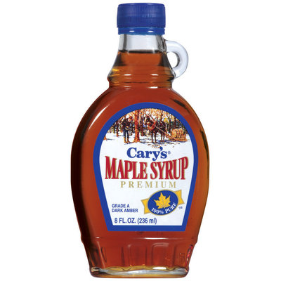 Cary's Maple Premium Syrup 8 Oz Glass Bottle