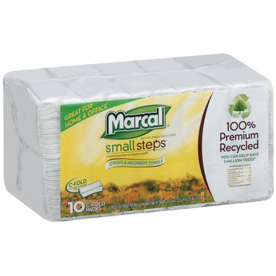 Small Steps® Home & Office C-Fold Packs Paper Towels 10 Ct Wrapper