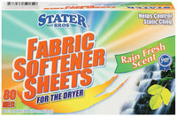Stater Bros. Rain Fresh Scent 6.4 In X 9 In Fabric Softener Sheets 80 Ct Box
