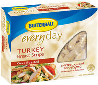 Butterball Oven Roasted Turkey Breast Strips 6 Oz Box