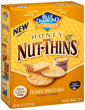 Blue Diamond® Almonds Nut-Thins® Honey Mustard Nut & Rice Cracker Snacks 4.25 oz. Box