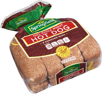 Springfield® 100% Whole Wheat Hot Dog Buns 8 ct Pack