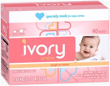 Ivory Snow Powder Laundry Detergent 1.5KG 40 load