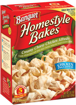 Banquet Homestyle Bakes  Creamy Cheesy Chicken Alfredo 35.7 Oz Box