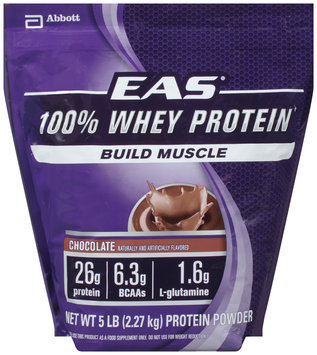 EAS® 100% Whey Protein Chocolate Protein Powder 5 lb. Bag