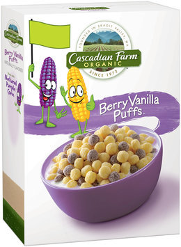 Cascadian Farm® Organic Berry Vanilla Puff Cereal 10.25 oz. Box