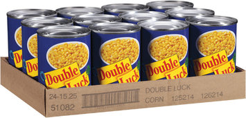 Double Luck® Golden Super Sweet Whole Kernel Corn 15.25 oz. Can