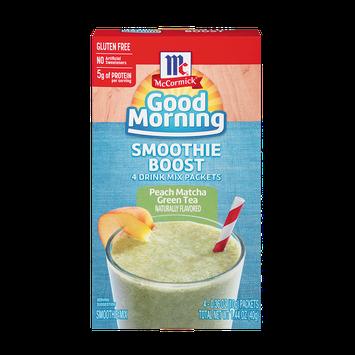 McCormick® Good Morning Peach Matcha Green Tea Smoothie Boost