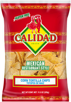 Calidad Brand® Corn Tortilla Chips 11.5 oz. Bag