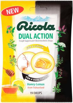 Ricola Dual Action Honey-Lemon Drops 19 ct Bag