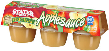Stater Bros. Original 4 Oz Applesauce 6 Pk Cup