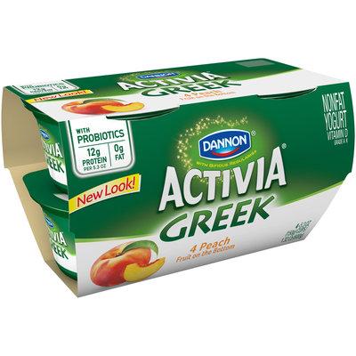 Dannon Activia Greek Orchard Peach Nonfat Yogurt