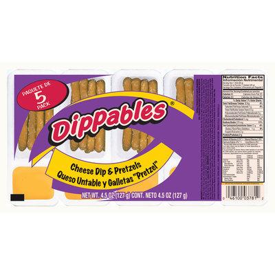 Dippables® Cheese Dip & Pretzels Sticks 4.5 oz. Pack